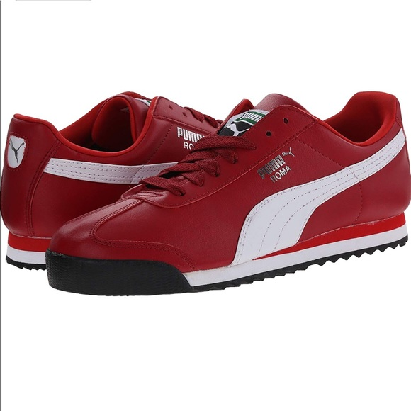premium selection 3d0c7 7645c Puma Roma Basic Jr Sneaker - in Rio Red and White